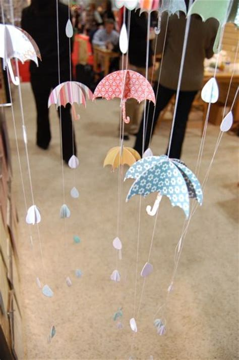 umbrella mobile pattern baby shower umbrellas and rain display baby shower ideas