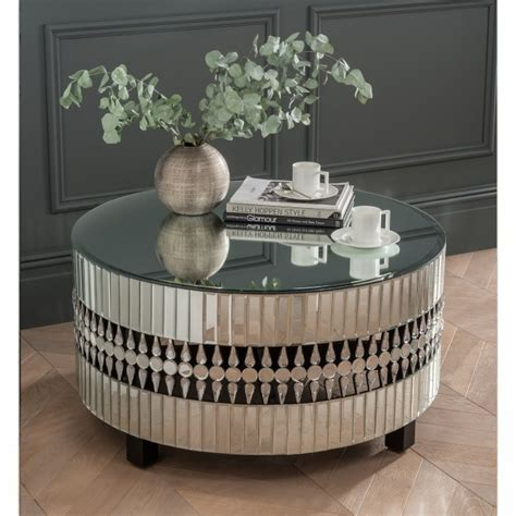 crystal mirrored coffee table coffee table homesdirect