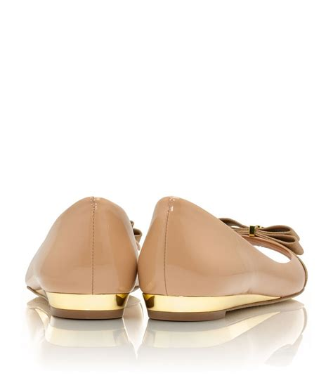 Murah Burch Trudy Wedges burch trudy patent open toe demi wedge in metallic lyst