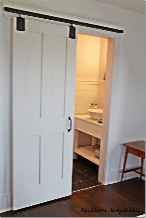 sliding barn door bathroom mitchell gold cottage at serenbe door opener powder