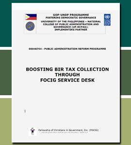 boosting bir tax collection through focig service desk undp
