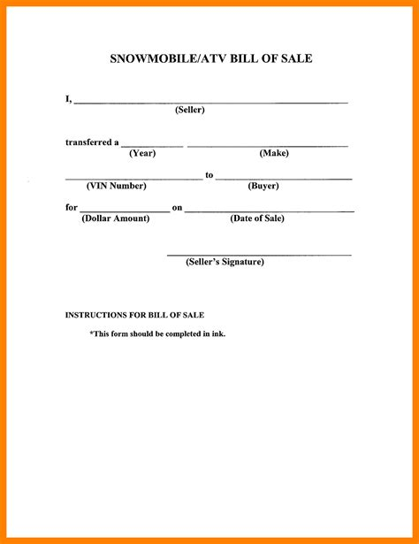 simple bill of sale template 11 simple bill of sale form resign template