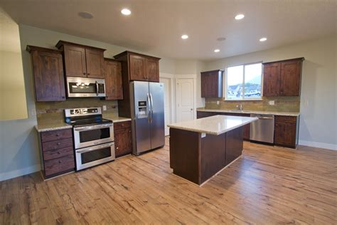 download light hardwood floors with dark cabinets
