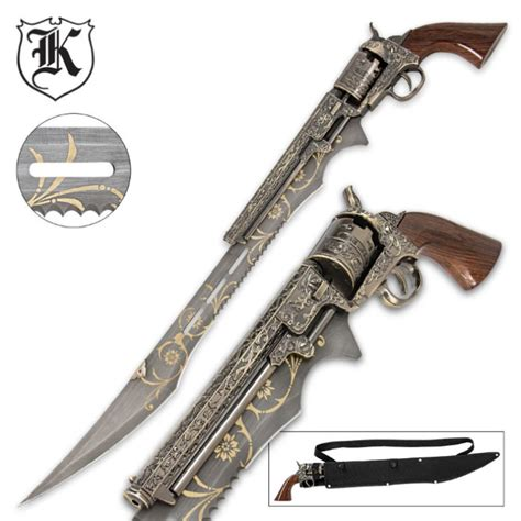 Knight Home Decor by Otherworld Steampunk Gun Blade Sword With Nylon Shoulder