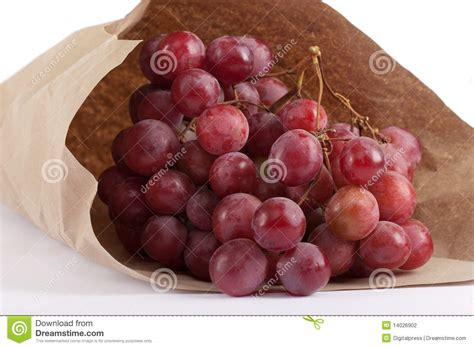 How To Make Paper Grapes - bunches of grapes in paper bag stock photography image
