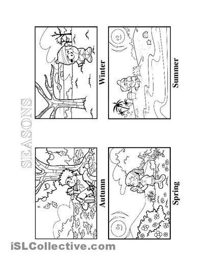 kindergarten activities on seasons seasons worksheet free esl printable worksheets made by