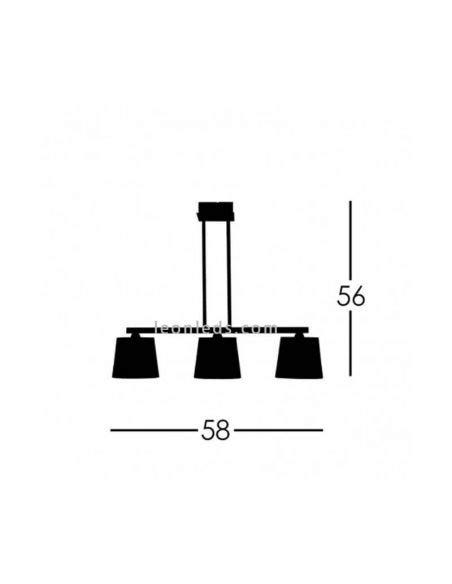 Lámpara de techo 3 Luces Dorada Dalia |® LeonLeds.com