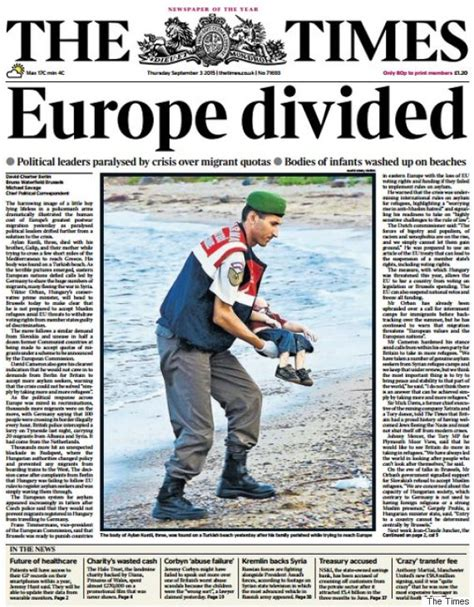 Crisis Guardiannn drowned syrian toddler photo inspires graphic bold front