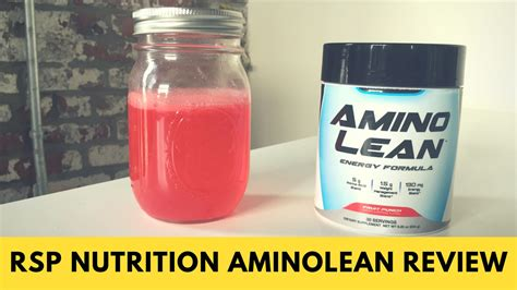 Rsp Amino Lean 30srvg rsp aminolean review what s in the proprietary blend