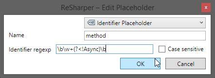 log4j pattern method name c resharper custom patterns change method name stack