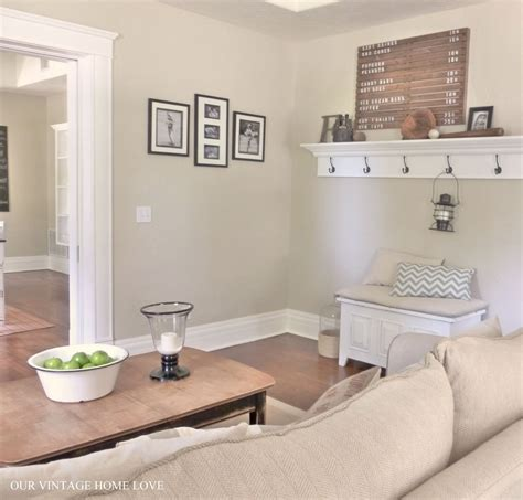 Neutral Living Room Wall Colors by Our Vintage Home Living Room Ideas And A New Desk