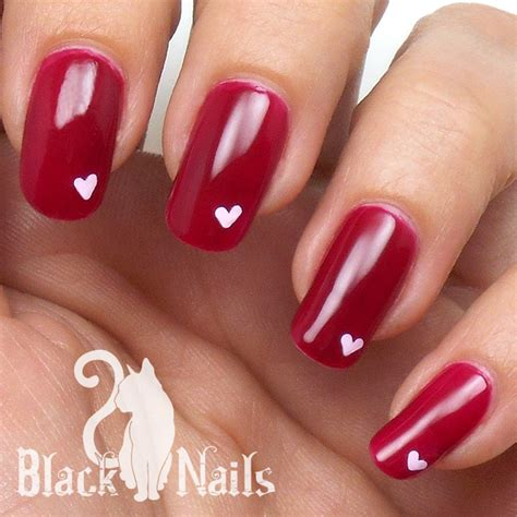 easy valentines nails simple pink on pink valentines day nail black