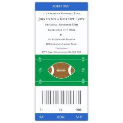 football ticket grey red invitations paperstyle