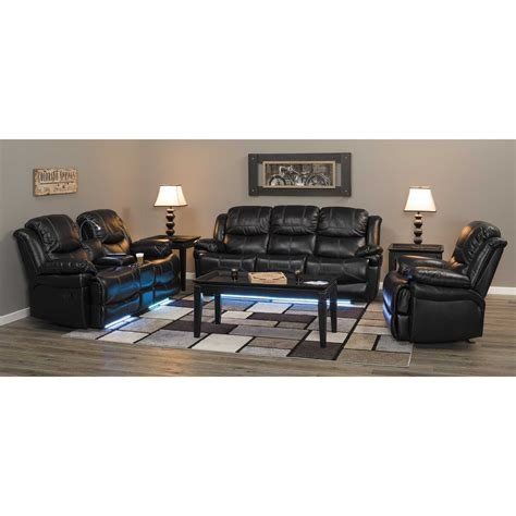flynn reclining console loveseat with lights 1a 2177 rl