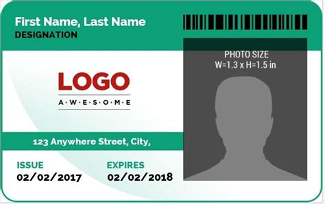 card 5 id template ms word photo id badge sle template word excel