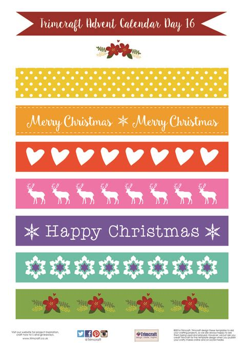 printable xmas paper chains 283 best trimcraft free templates images on pinterest