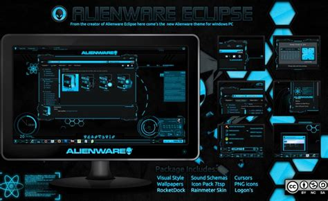 themes by eclipse alienware eclipse blue mr blade designs