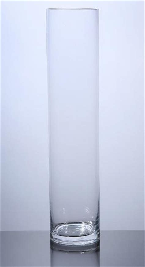 16 Inch Cylinder Vases Wholesale by Pc416 Cylinder Glass Vase 4 Quot X 16 Quot 12 P C Cylinder