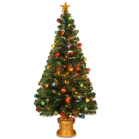 premier gold sequin fibre optic tree national tree co 60 quot fiber optic evegreen tree