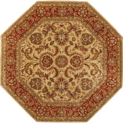 octagon rug 8 artistic weavers alma gold semi worsted new zealand wool 8 ft octagon area rug alma 8oct the