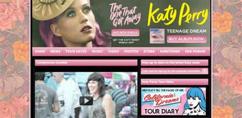 katy perry official biography website designs of top 15 artists on itunes flashuser