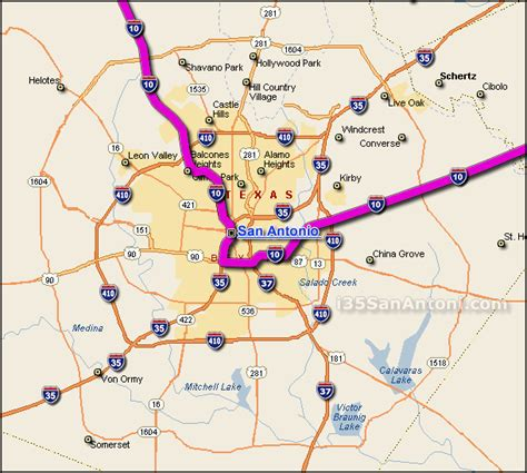 map of san antonio texas area i 10 interstate 10 san antonio map