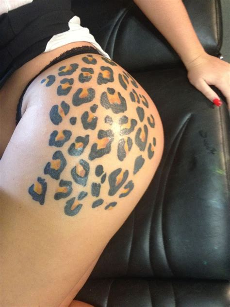 tattoos on buttocks designs 1000 ideas about leopard print tattoos on