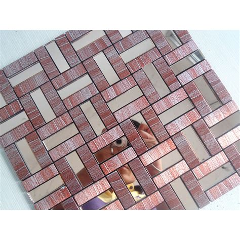stick on mosaic tile backsplash peel and stick tile aluminum metal wall tile adhsive