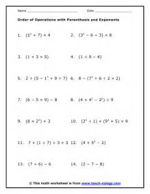 order of operations with parenthesis and exponents