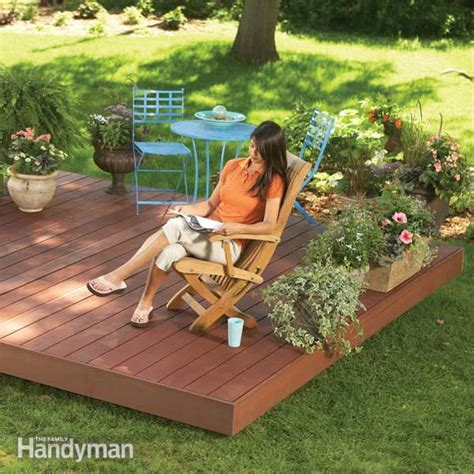 deck in backyard how to build a fabulous diy floating deck the garden glove