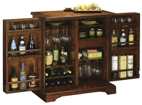 Indoor Bar Cabinet 695116 Howard Miller Americana Cherry Portable Wine And Bar Cabinet