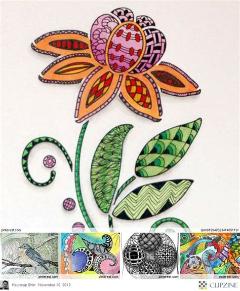 banar designs zentangle weekly challenge 15 curves zentangle art zentangle flowers pinterest zentangle