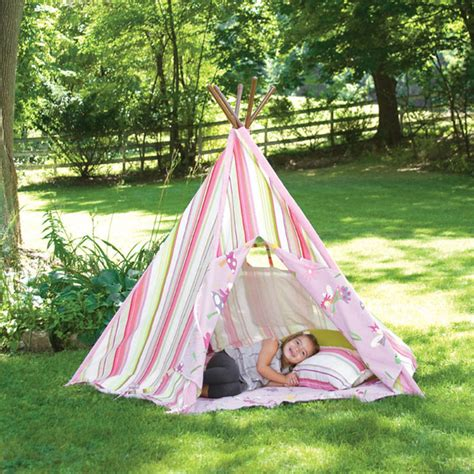 backyard teepee pink stripes teepee tents teepees modern outdoor