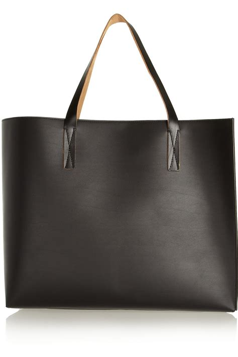 Marni Oversized Crinkle Handbag by Marni Large Faux Leather Tote In Black Lyst