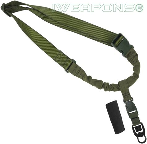 1 Point Bungee Rifle Gun Sling Green iweapons 174 operator tactical qd 1 point bungee rifle