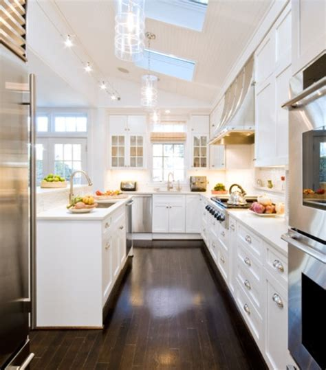 white kitchen and floors floors