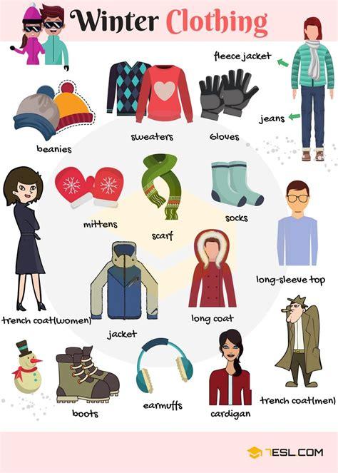 libro the vocabulary guide anglais winter clothes and accessories vocabulary in english anglais langue et vocabulaire anglais