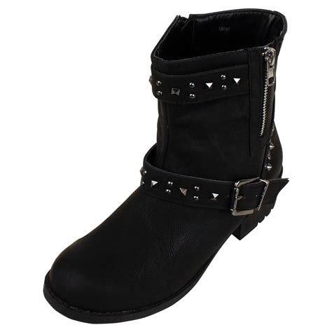 new cowboy western black boot smart faux leather