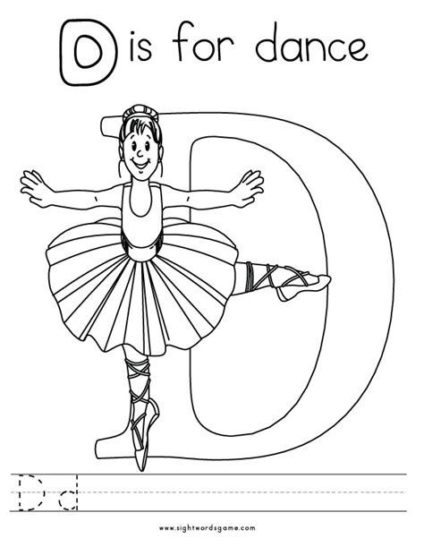 d coloring pages for kindergarten words with letter d coloring pages