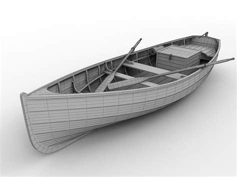 3d model wood fishing boat 3d model max obj 3ds fbx cgtrader