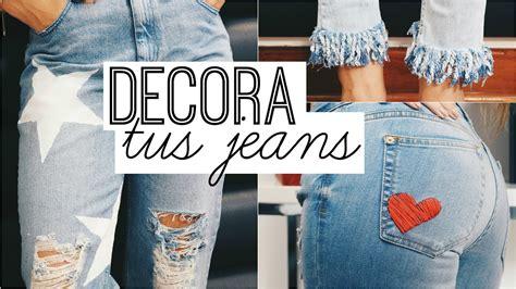 como decorar jeans diy decora tus jeans fashaddicti youtube