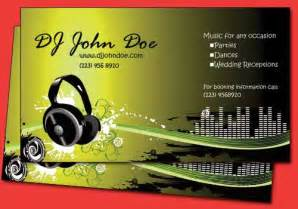 exles of dj business cards 6 funky dj business card templates best business card
