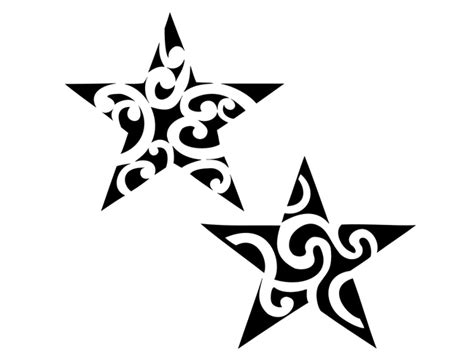 free star tattoos clipart best