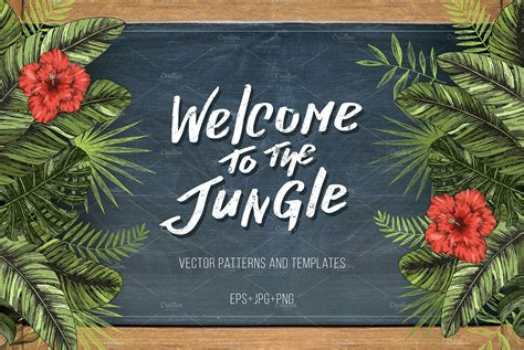 Social Saturday Jungle Card The - welcome to the jungle illustrations creative market