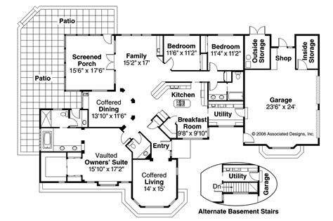 mediterranean house floor plans mediterranean house plans glenridge 10 053 associated designs