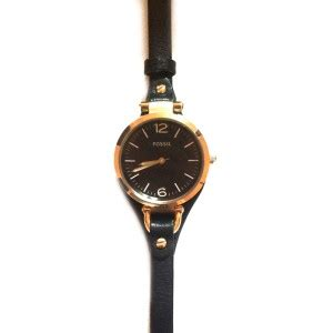 Fossil 4123 Black Rosegold fossil es3077 black and gold tone select brand buy at truefacet