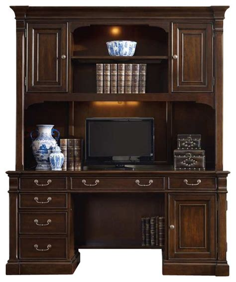 inval credenza computer workstation desk with hutch westbury computer credenza with hutch transitional