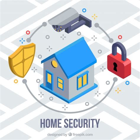 home security background vector free