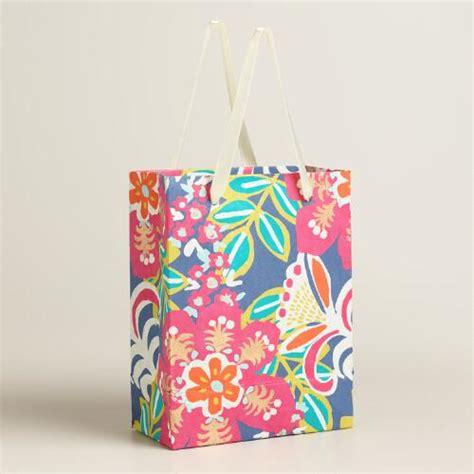 Handmade Small Bags - small zoom tropic handmade gift bags set of 2 world market
