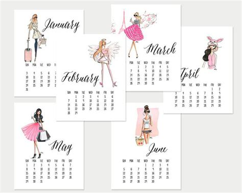 2016 fashion printable calendar blank calendar design 2018